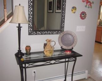 Entry Table With Accent Mirror