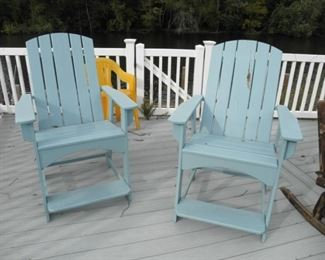 HIGH CHAIRS FOR PATIO OR DECK
