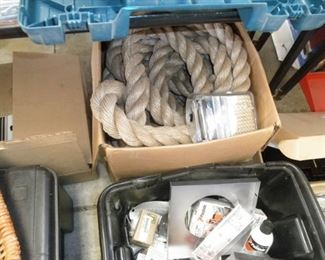 ONE OF TWO COILS OF HEAVY ROPE