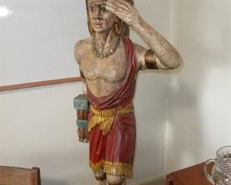 WOOD INDIAN SCULPTURE