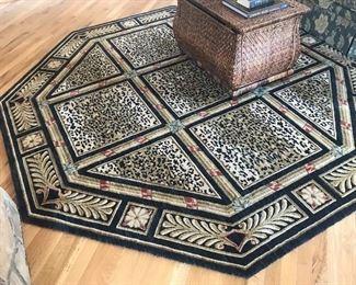Gorgeous octagonal area rug