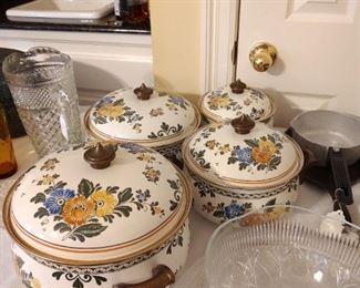 Vintage Asta Enamel Pots