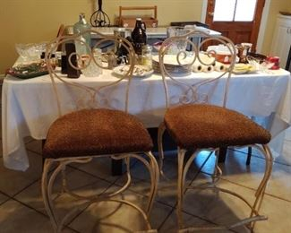3 Wrought Iron Dining / Bar Chairs (only 2 shown in pic)