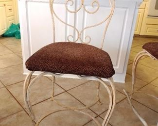 Wrought Iron Chairs for dining or bar 3