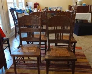 Cane seat Dining Chairs - 5 total