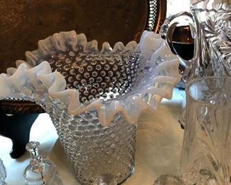 Fenton Vase and Cut Glass Collectibles