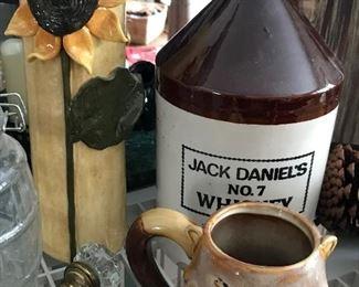 Stoneware jug, pottery