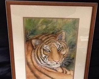 The Eye of the Tiger Framed Painting