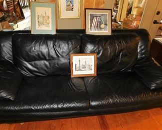 mint condition black leather