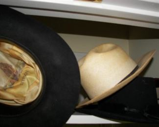 cowboy hats and dress hats both men's and women's