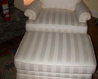 one of two club chair with ottoman