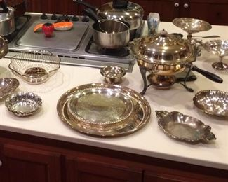sterling, silverplate, armetal, pots and pans