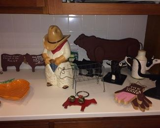 cowboy cookie jar and decor