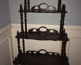 antique turned leg display shelf
