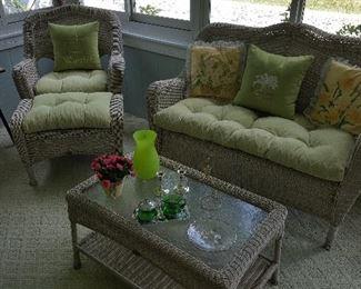 Outside/sunroom furniture.