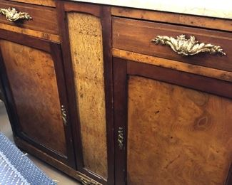 Marble top Small Credenza