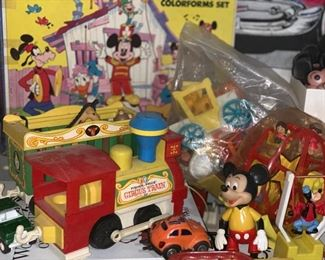 Fisher Price Circus train, Mickey Mouse items