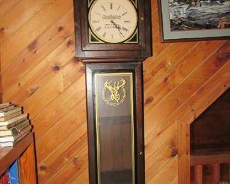 Glenfiddich Scotch floor clock. Approx 6 1/2 foot tall