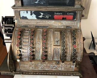 Ring up the savings on this antique beauty from an old Columbia Mississippi store. This sale has it all