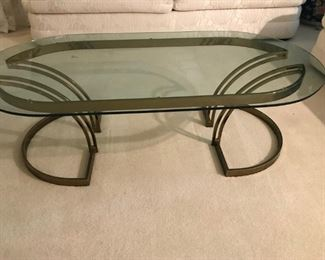 Lovely Brass & Glass Coffee Table