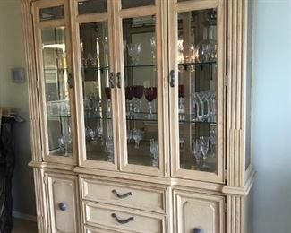 Stanley China Cabinet in two pieces.