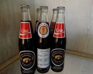 1981-1982 Iowa Hawkeye coke bottles
