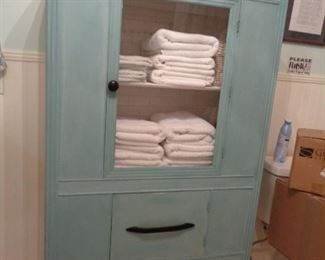 CHALK PAINTED MEDICAL CABINET