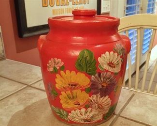 Vintage pottery canister