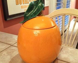 Vintage orange canister