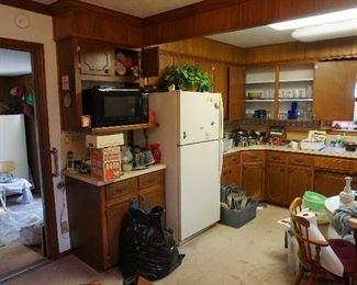 Refrigerator, Microwave, Freezer
