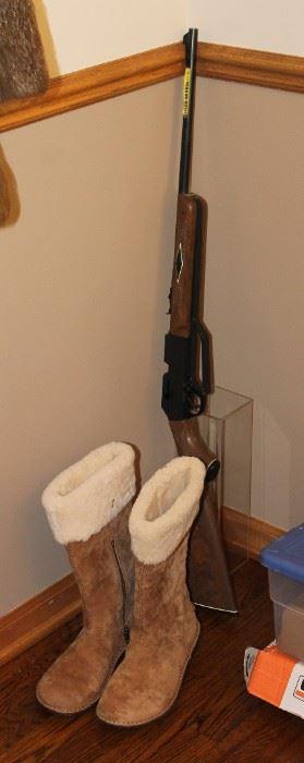 Ugg boots and BB gun