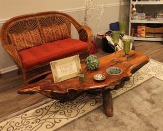 Stunning live edge wood coffee table