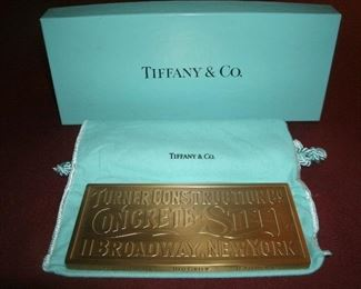 TIFFANY & CO. BRONZE PAPERWEIGHT HOLDER