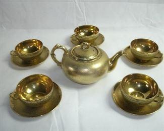 24KT GOLD WASH VINTAGE JAPANESE TEA SET