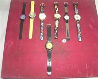 WRIST WATCH LOT W/CHARACTER WATCHES