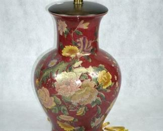 FREDERICK COOPER FLORAL TABLE LAMP (LOOK IT UP..EXPENSIVE)