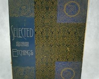 Selected Etchings. New York: Frederick A. Stokes, 1892. Folio, original decorated cloth.