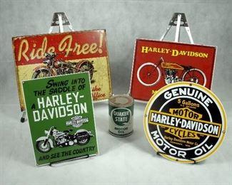 HARLEY DAVIDSON ADVERTISEMENT METAL SIGNS