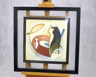 RECORDING STUDIO ART BY ARTIST ALFRED ALEXANDER GOCKEL THIS IS 1 IN A SERIES OF 2