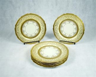 ANTIQUE BOHEMIA GILDED CHINA (MADE IN CZECHOSLOVAKIA) SET OF EIGHT