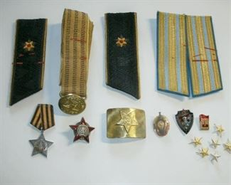 VINTAGE USSR MEDALS, BADGES, PATCHES