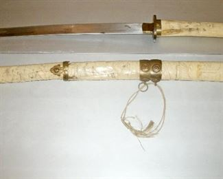 EARLY JAPANESE IVORY SWORD