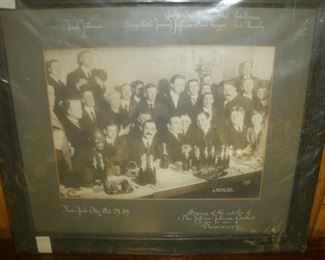 1909 SIGNING OF CONTRACT JACK JOHNSON THE BOXER (ORIGINAL)