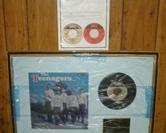 FRANKIE LYMON THE TEENAGERS AUTOGRAPH RECORDS (COA)