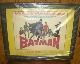 THE ORIGINAL BATMAN FRAMED MOVIE POSTER