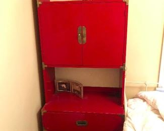 Japanese red lacquer hutch nice!