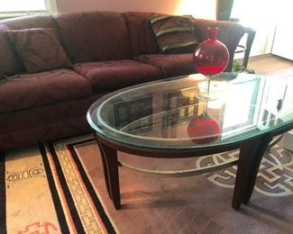 mother station coffee table. Sofa.