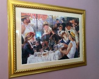 Toulouse Lautrec framed print of Parisians engaging in understated debauchery, as usual