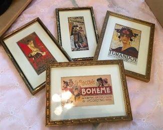 More framed Broadway bills.