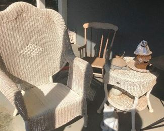 Rattan patio chair thinks it's superior to all other patio furniture